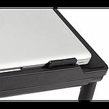Регулируемая Подставка для ноутбука кулер столик с охлаждением AIR SPACE, фото 5