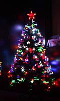 Светящаяся светодиодная оптоволоконная елка 120 см, 7 режимов