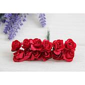 Розы бумажные , красная      144 шт