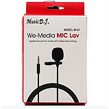 Микрофон-петличка Media Microphone DM M1 Чёрный, фото 5