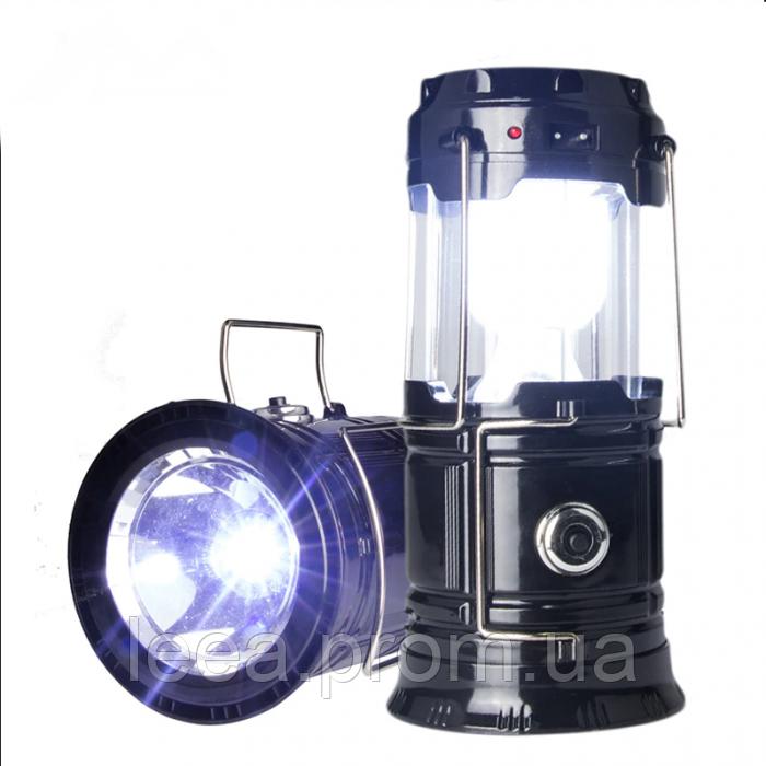 Кемпинговая LED лампа JH-5808 c POWER BANK , солнечная панель