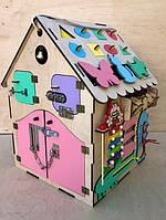 ОБУЧАЮЩИЙ, УВЛЕКАЮЩИЙ БИЗИ ДОМ !!! 34 активных элемента 50*35*35 см(развивающая игрушка, оригинальный подарок)