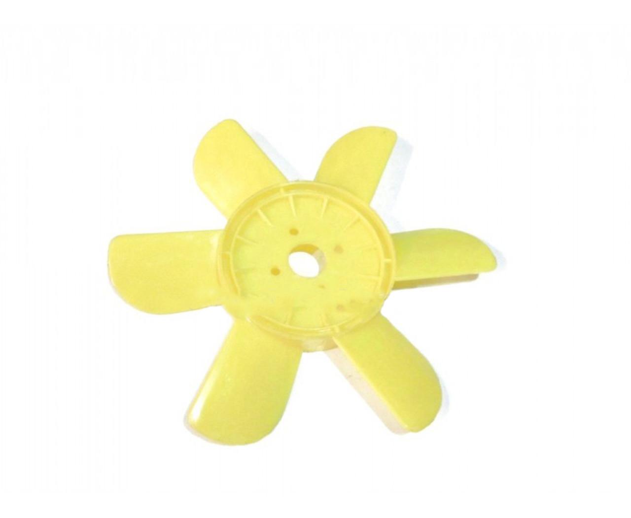 Крыльчатка вентилятора Москвич 412 шестилопастная желтая