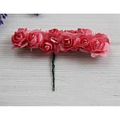 Розы бумажные ,кораллово  - розовые      144 шт