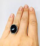 Кольцо в серебре с ониксом Веночек, фото 4