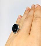 Кольцо в серебре с ониксом Веночек, фото 5