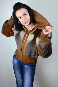 Короткая курточка из натурального стриженного меха лисы