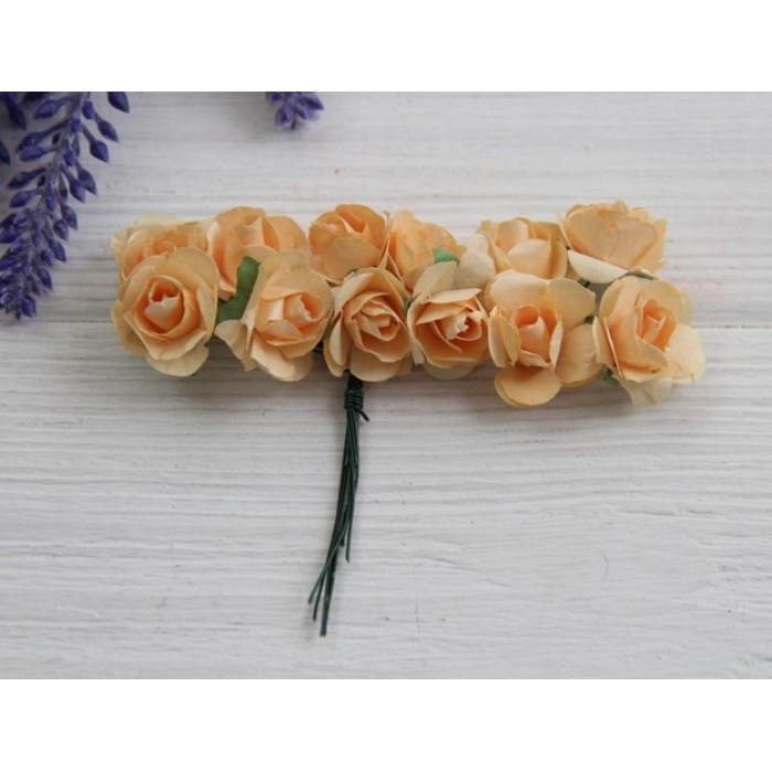 Розы бумажные , светло -коричневые       144 шт
