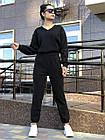 Спортивний костюм NOBILITAS 42 - 48 чорний трикотаж (арт. 20044), фото 2