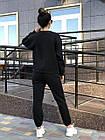 Спортивний костюм NOBILITAS 42 - 48 чорний трикотаж (арт. 20044), фото 4
