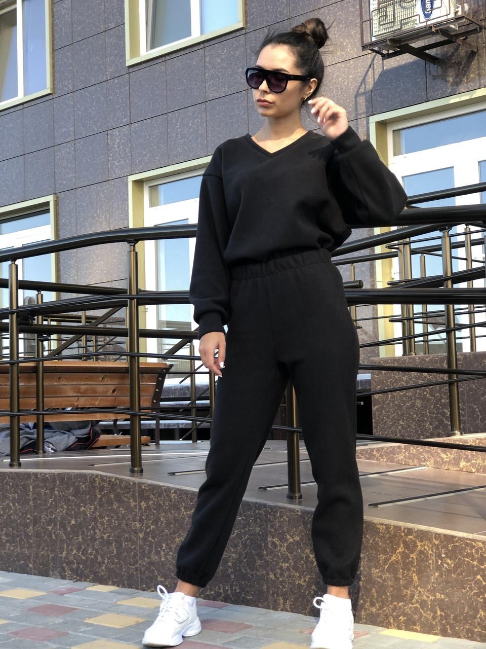 Спортивний костюм NOBILITAS 42 - 48 чорний трикотаж (арт. 20044)
