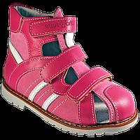 Ортопедичні дитячі сандалії для дівчинки 06-148 р-н. 21-30