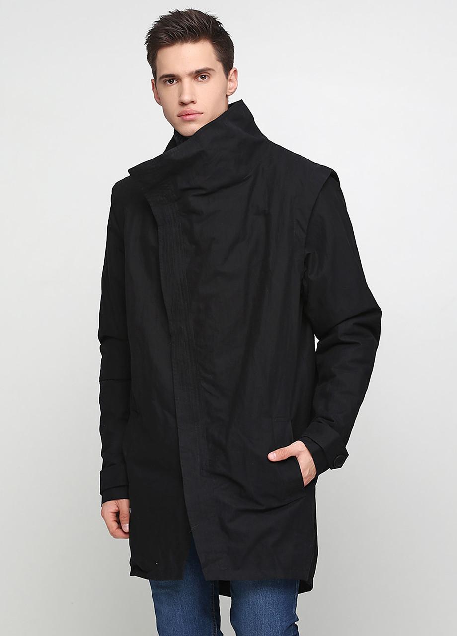 Уценка! Черная демисезонная куртка УСС-846811-1