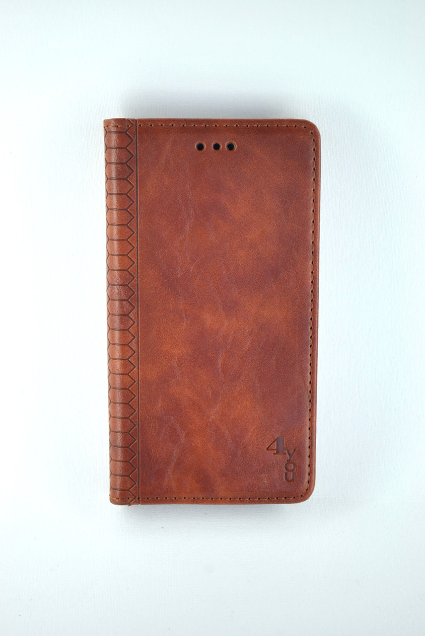 Чехол-книжка Flip Cover for Xiaomi Redmi 9 WALL Brown (4you)