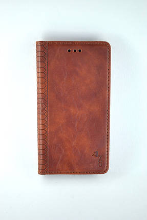 Чехол-книжка Flip Cover for Xiaomi Redmi 9 WALL Brown (4you), фото 2