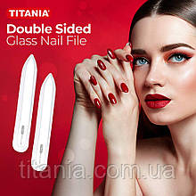 Маникюрная стеклянная двухсторонняя пилочка прозрачная TITANIA art.1250 B