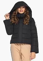 Курточка черная на зиму женская с ветрозащитным клапаном, фото 1