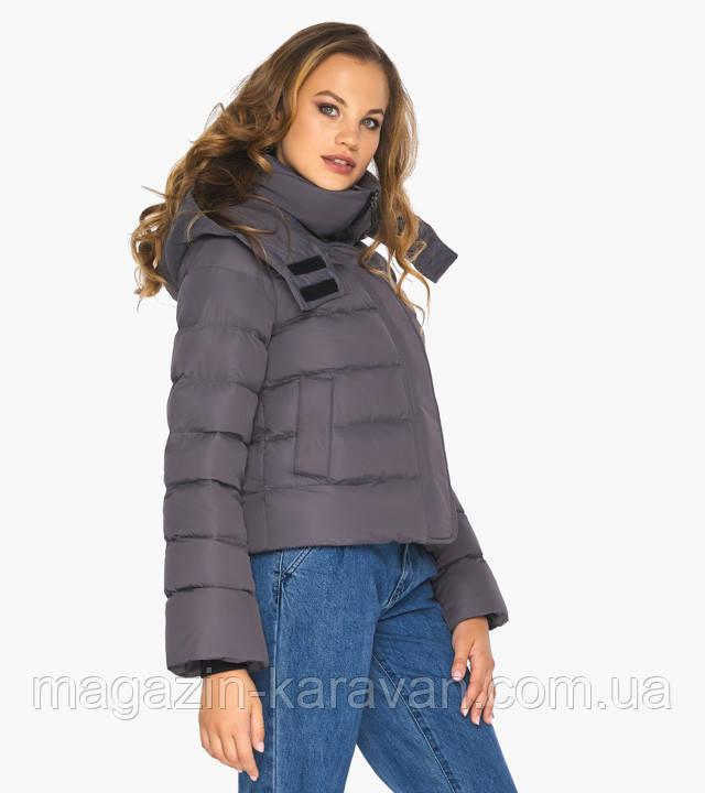 Графитовая курточка зимняя женская с коротким рукавом