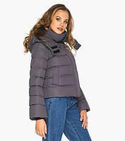 Графитовая курточка зимняя женская с коротким рукавом, фото 1