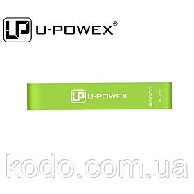 Поштучно ЗЕЛЕНАЯ фитнес резинка для фитнеса U-Powex. ОРИГИНАЛ  Хит США!