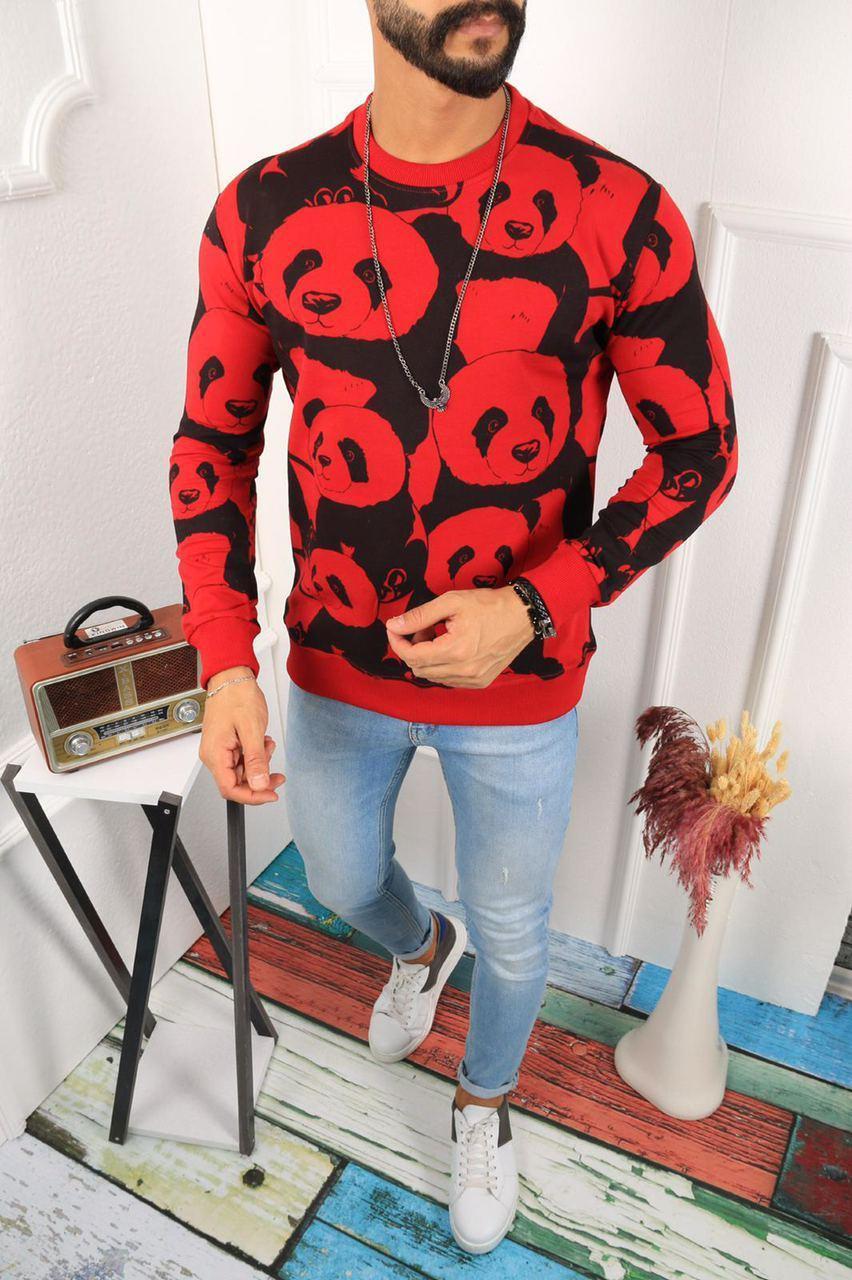 Мужской свитшот Panda EK 28 red/black