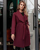 Женское пальто из кашемира норма и батал, фото 1