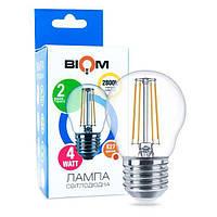 Світлодіодна лампа BIOM FL-301 4W G45 E27 (теплий білий)