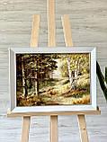 """Картина пейзаж из янтаря """" Красивый лес"""" 30x40 см, фото 3"""