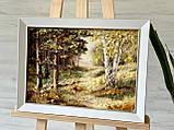 """Картина пейзаж из янтаря """" Красивый лес"""" 30x40 см, фото 4"""
