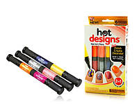 Набор для дизайна ногтей Hot designs | двойные лаки фломастеры | набор двойных лаков фломастеров для маникюра