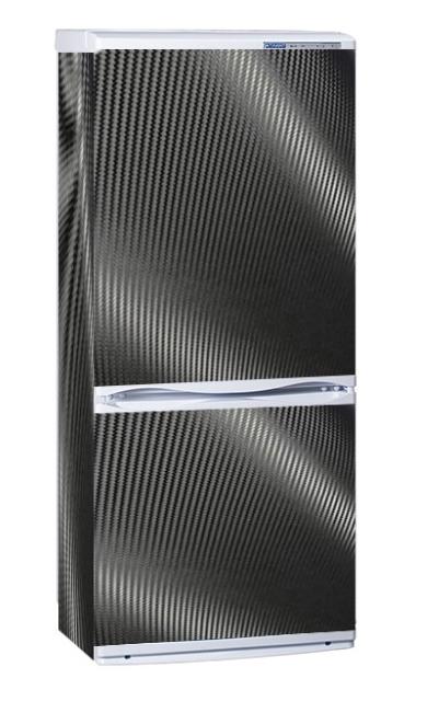Наклейка на холодильник Вінілова плівка Німеччина  Карбон чорний 3D