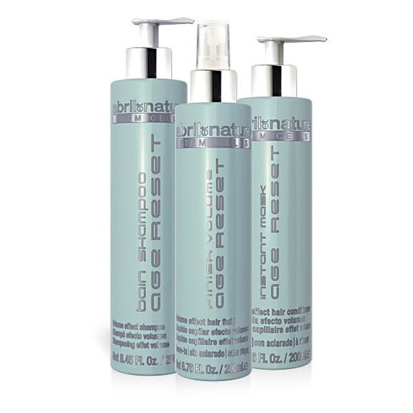 Набор для тонких волос Abril Et Nature Stem Cells Age Reset Kit (Шампунь 250 мл + маска 200 мл + спрей 200 мл)