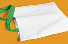 Пляжна сумка/Промо сумка (габардин) для сублімації з зеленою ручкою, фото 2