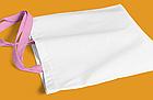 Пляжна сумка/Промо сумка (габардин) для сублімації з рожевою ручкою, фото 2