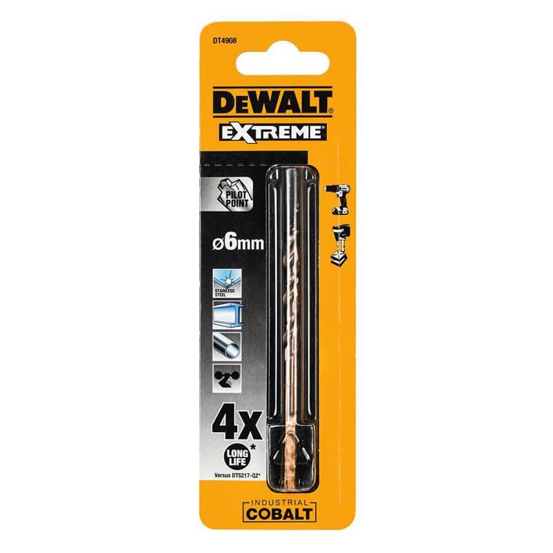 Свердло по металу EXTREME2 кобальтовое HSS-CO 6x93x52 мм DeWALT DT4908