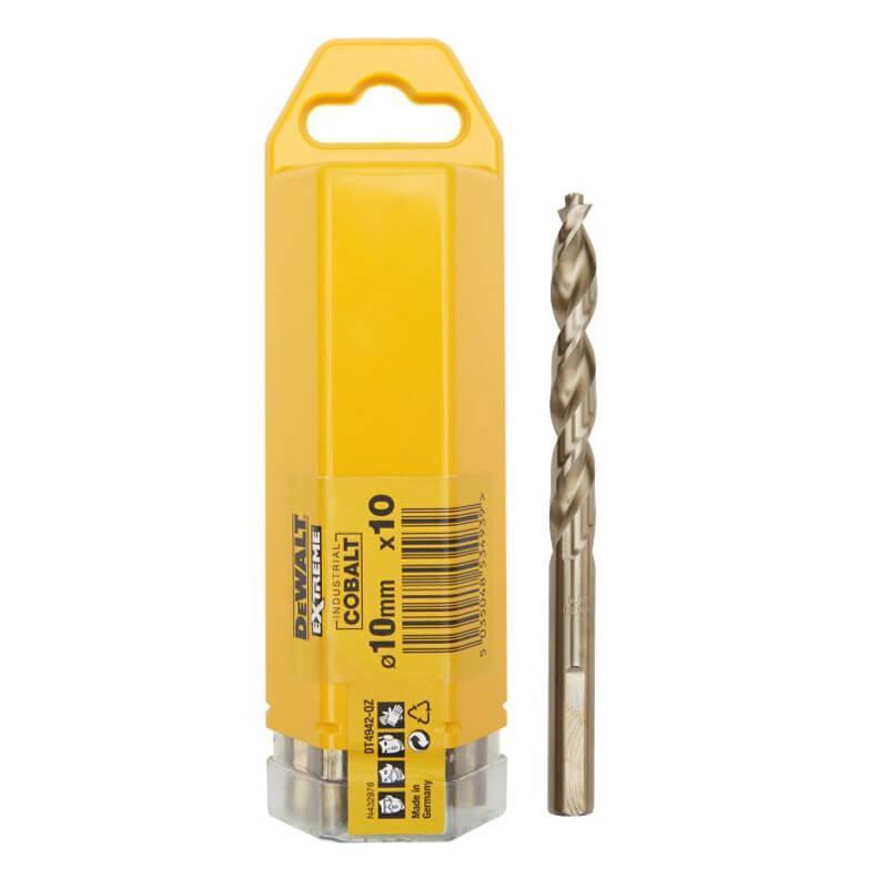 Сверло по металлу EXTREME2 кобальтовое HSS-CO 10x133x84 мм упаковка 10 штук DeWALT DT4942