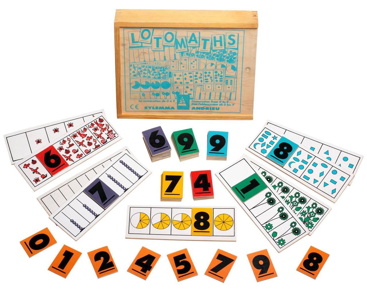 Настольная игра лото Математика 72 детали 21.00х7.70х0.50