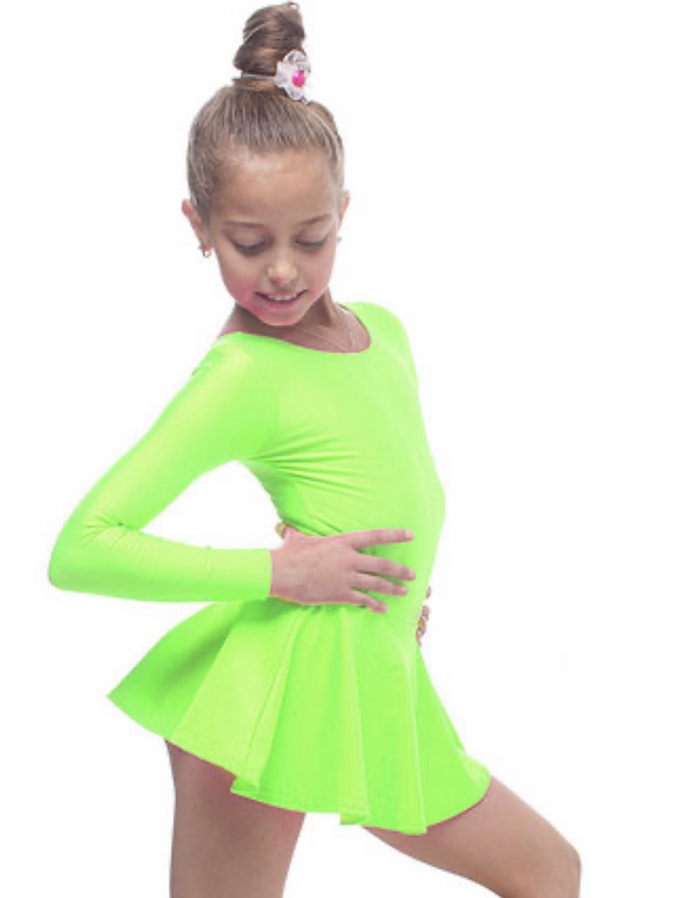 Боди купальник с юбкой гимнастический для танцев , балета