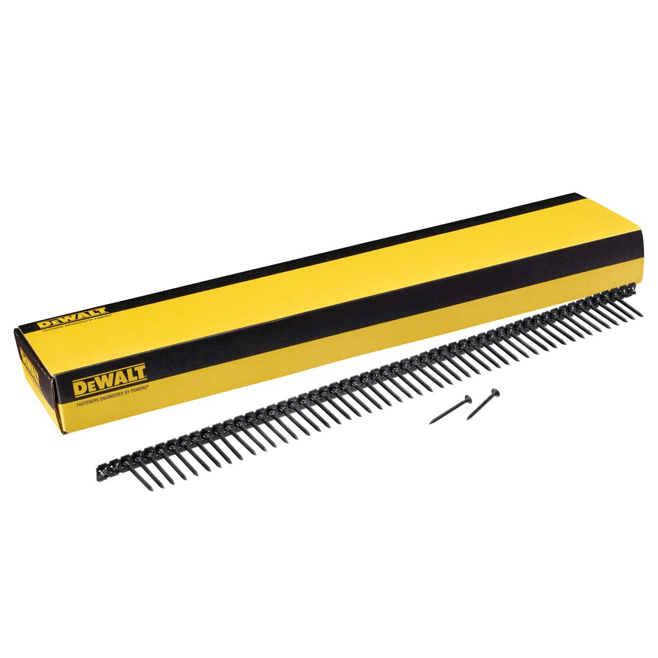 Шурупи в стрічках для монтажу гіпсокартону до металевих профілів DeWALT DWF4000450