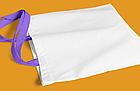 Пляжна сумка/Промо сумка(габардин)для сублімації з фіолетовою ручкою, фото 2