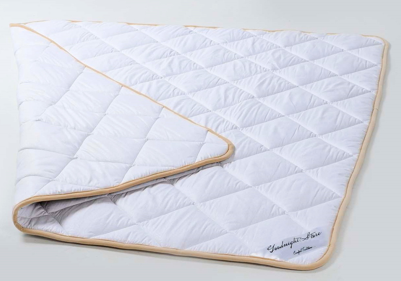 Одеяло овечье облегченное из шерсти мериносов Lite Белое классическое 180х200