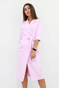 Изысканное вечернее платье на запах Barbara, розовое