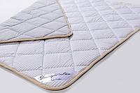 Одеяло из шерсти мериносов облегченное Lite Серое полоска 160х200, фото 1