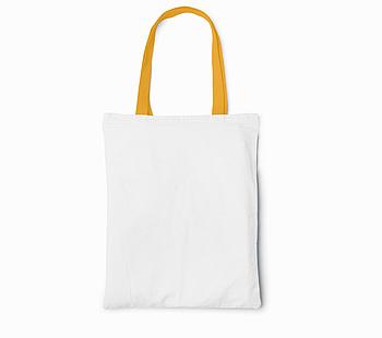 Пляжная сумка/Промо сумка (габардин) для сублимации с оранжевой ручкой
