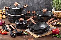 Подарунковий набір кухонного посуду Edenberg EB-5617 з ангтипригарным покриттям з 15 предметів