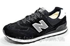 Зимние кроссовки New Balance 574 Black с мехом, фото 2
