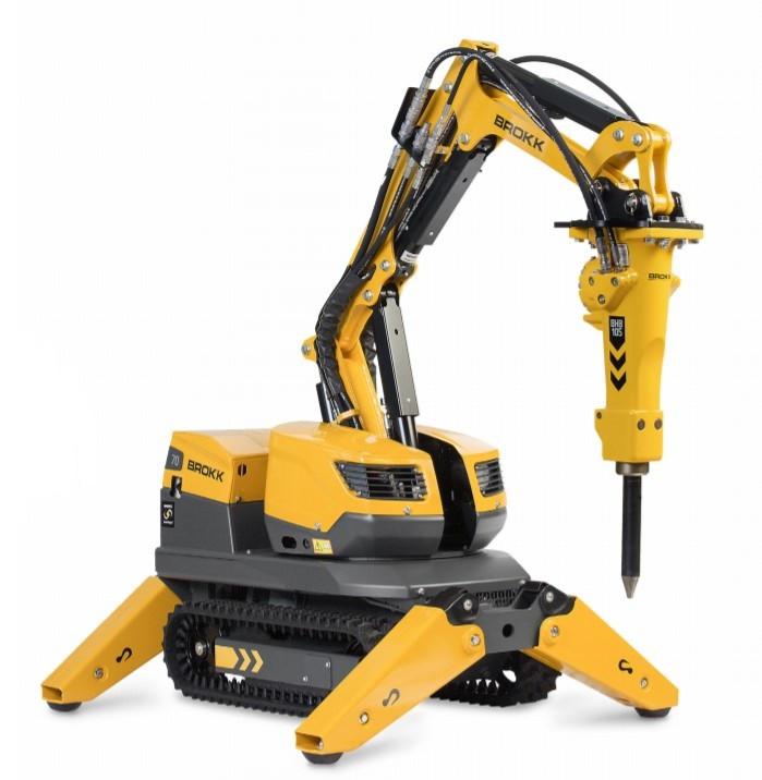 Робот для демонтажа с дистанционным управлением BROKK 70