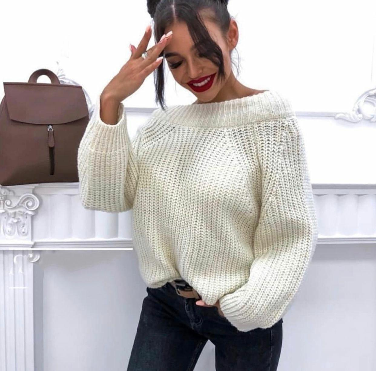 Объемный свитер женский 5193 (OS)