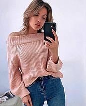 Объемный свитер женский 5193 (OS), фото 3