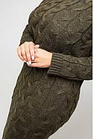 Женское длинное вязаное платье большого размера Эвелина, размер 48-56